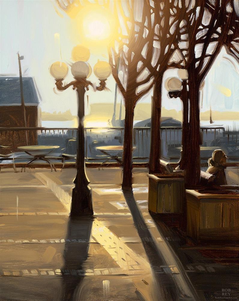 """Autumn Sunset"" original fine art by Rob  Rey"