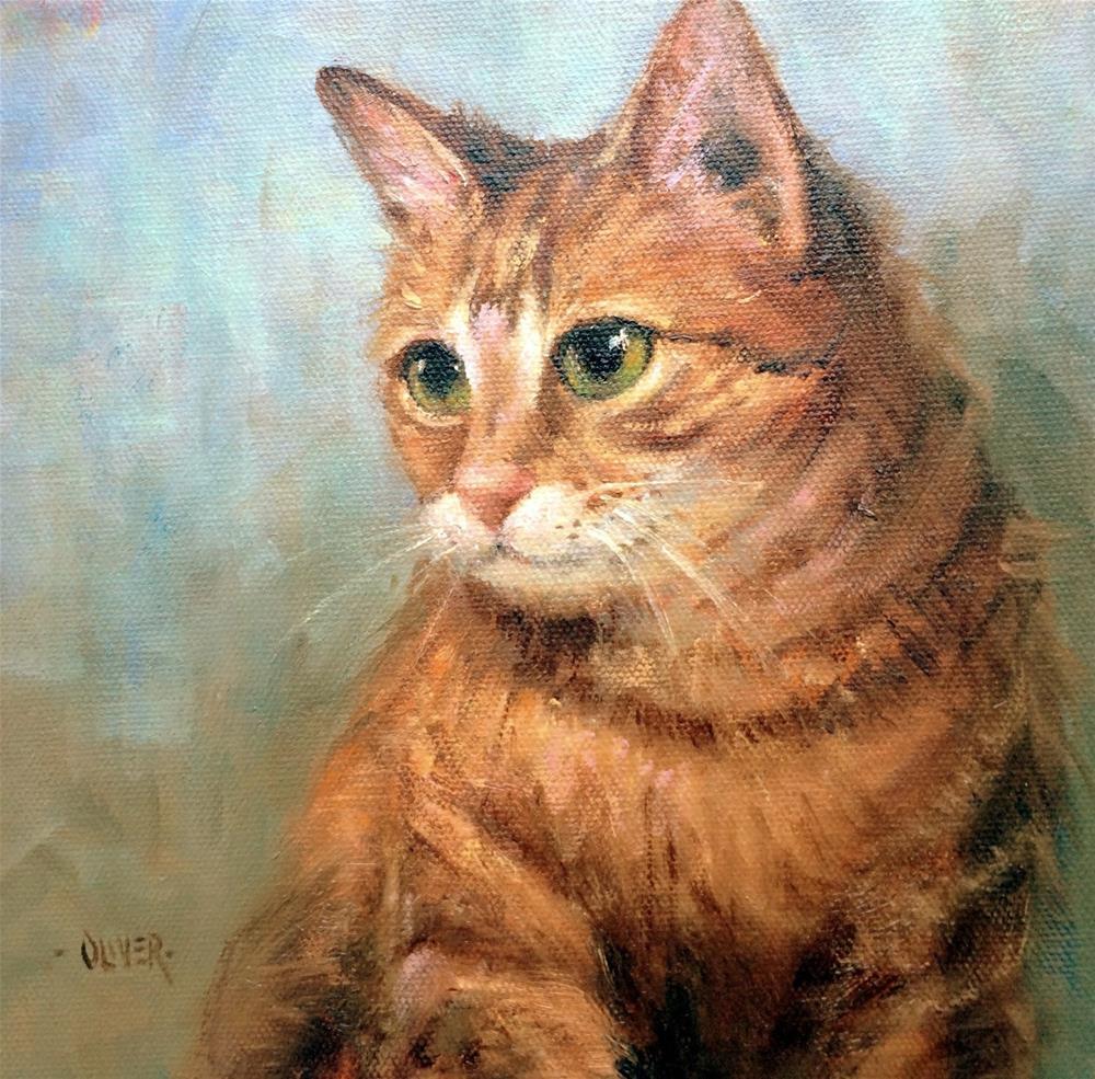 """""""Like Cats?"""" original fine art by Julie Ford Oliver"""