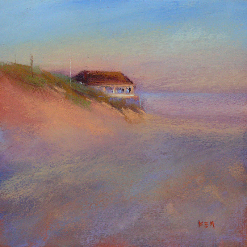 """Cape May Beach pastel"" original fine art by Karen Margulis"