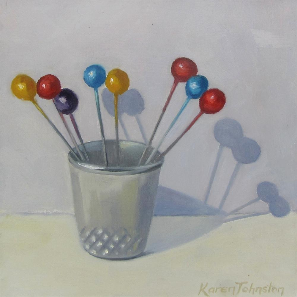 """Bouquet of Pins"" original fine art by Karen Johnston"