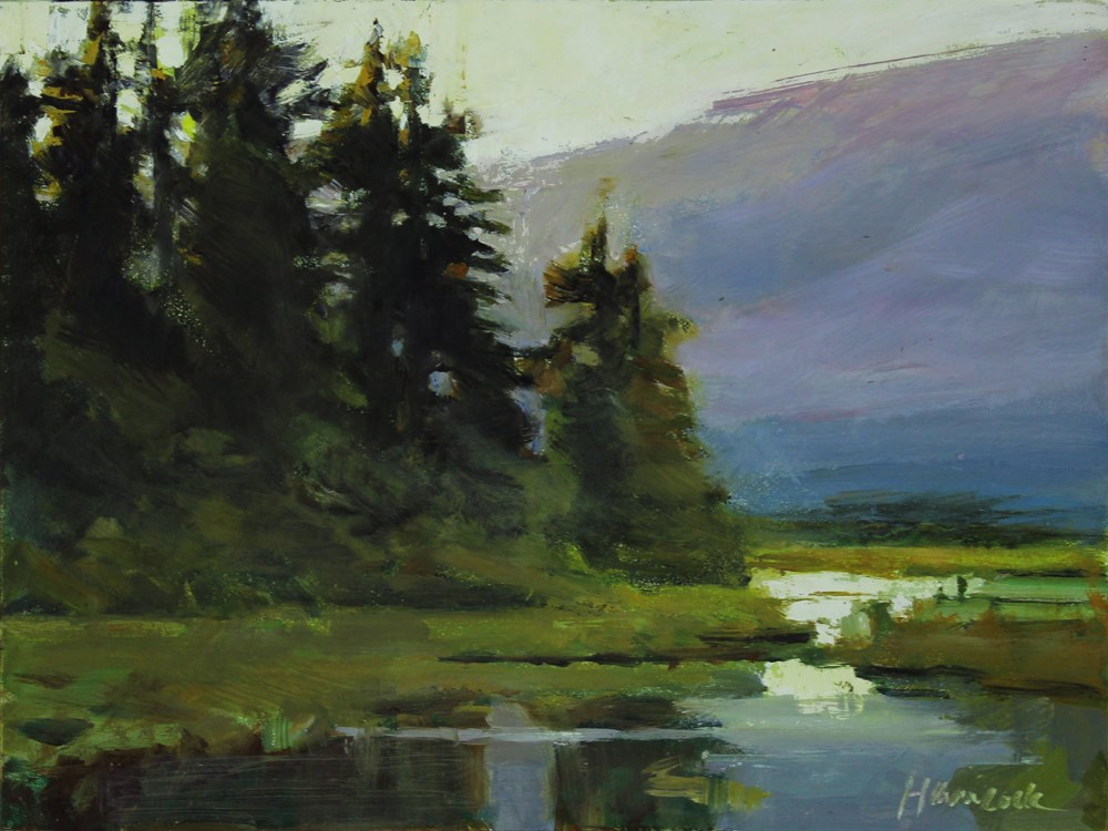 """Toward the Lake"" original fine art by Gretchen Hancock"