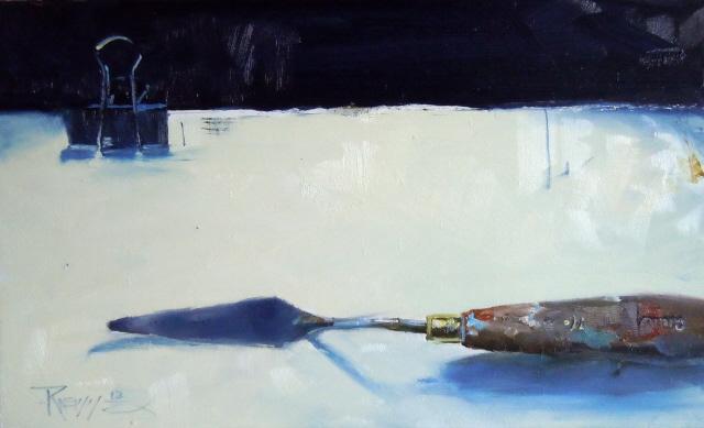 """Palette Knife  Artists tool, still life, oil painting by Robin Weiss"" original fine art by Robin Weiss"