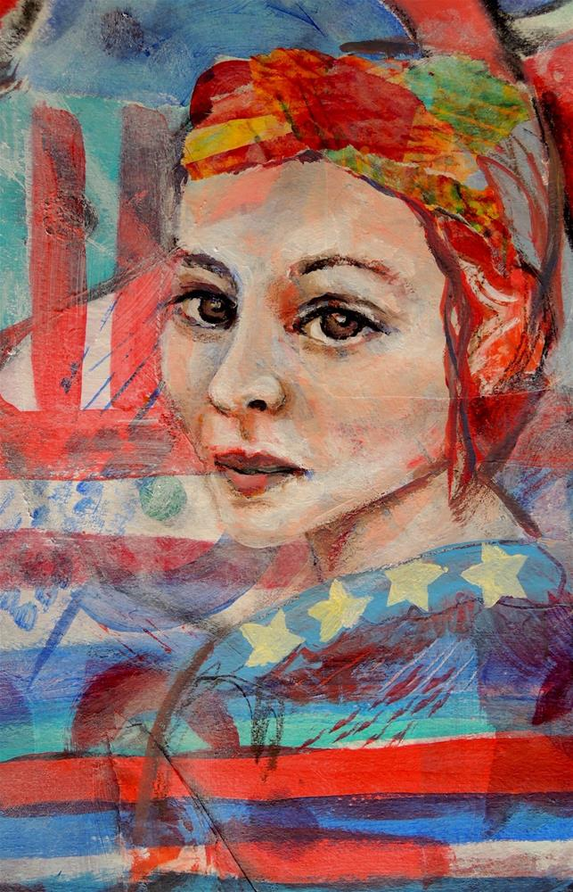 """American Women"" original fine art by Mary Schiros"