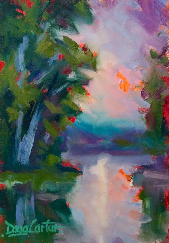 """"""" BLEU """" original fine art by Doug Carter"""
