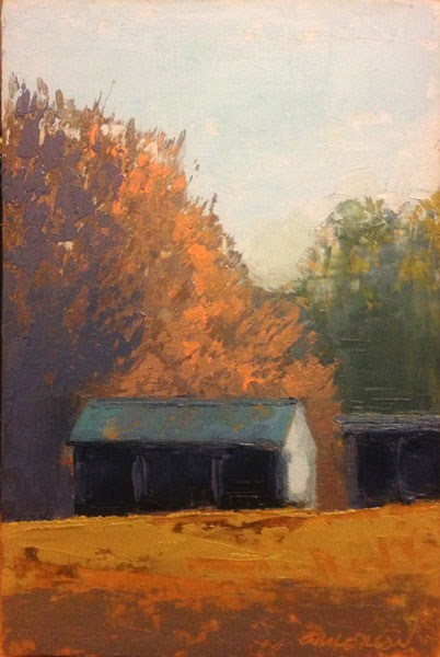 """""""Shed, Sunlight"""" original fine art by Mary Gilkerson"""