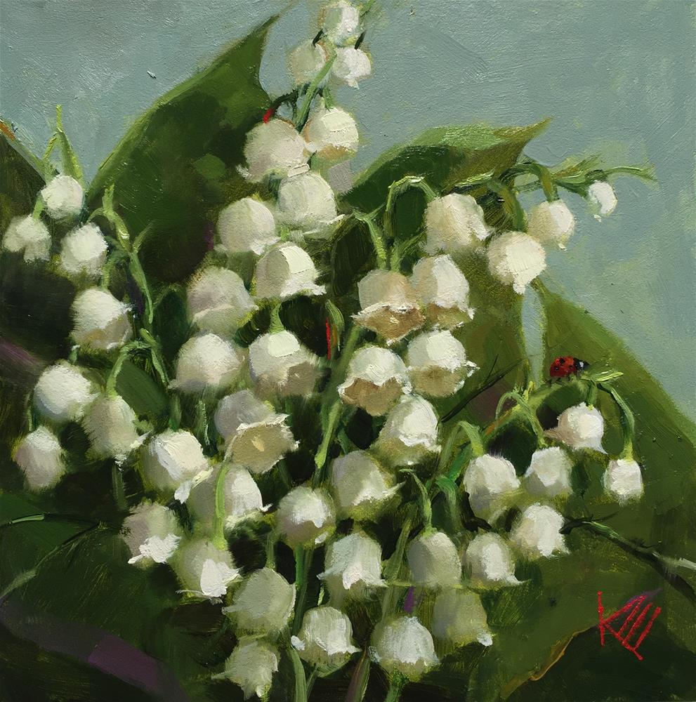 """Lily of the Valley "" original fine art by Krista Eaton"