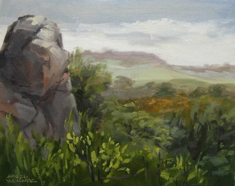 """Field Study, Santa Rosa Plateau"" original fine art by Karen Werner"