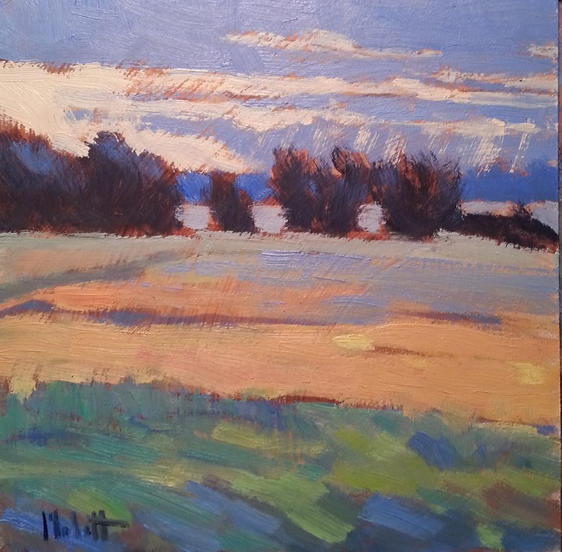 """""""Sun Rays and Changing Fields contemporary impressionism oil painting"""" original fine art by Heidi Malott"""