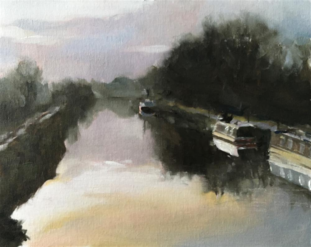 """Canal Scene"" original fine art by James Coates"
