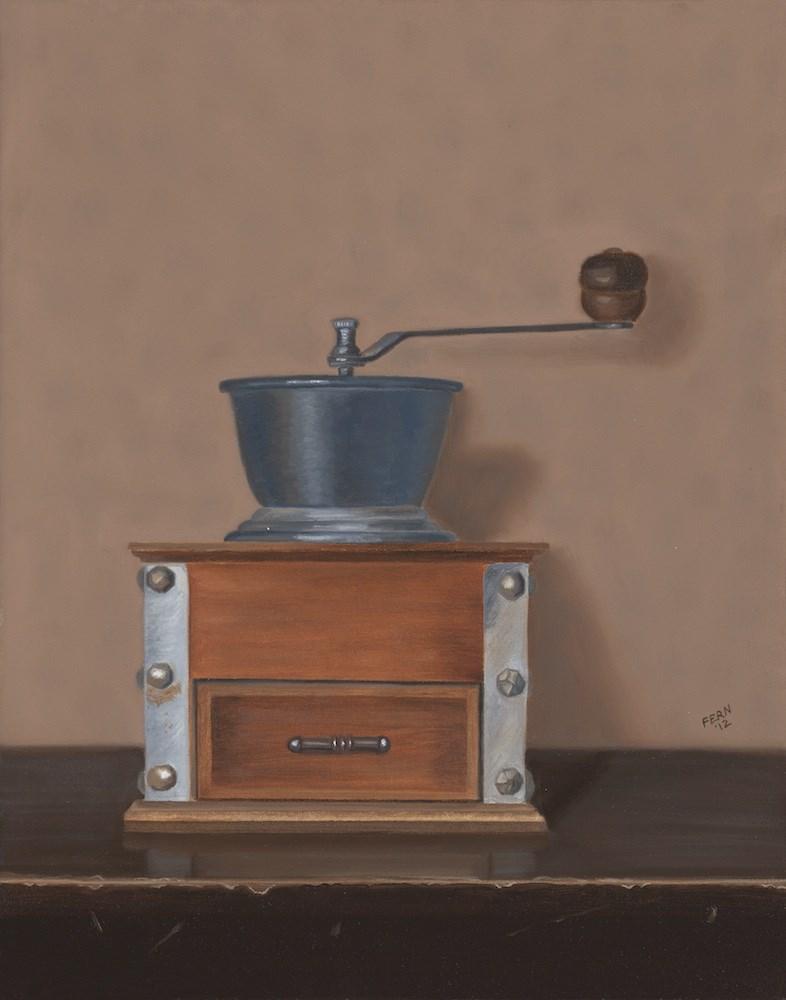"""""""Antique Coffee Grinder"""" original fine art by Susan Fern"""