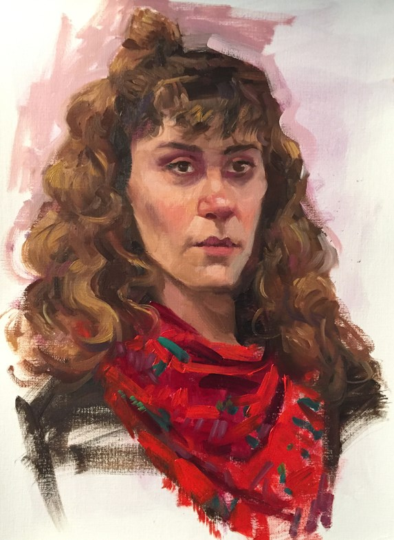 """Recent portraits"" original fine art by Kathy Weber"