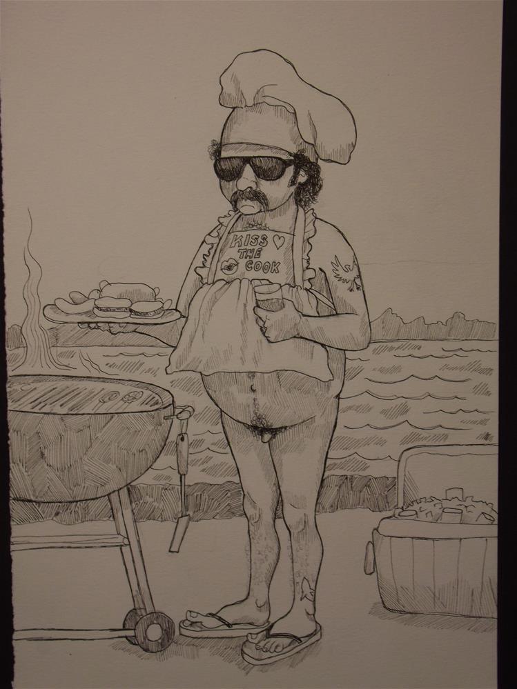 """""""An American Man, Nude, No. 981"""" original fine art by wanda sigafus"""