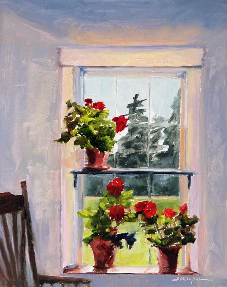 """""""Geranium View"""" original fine art by Shelley Koopmann"""
