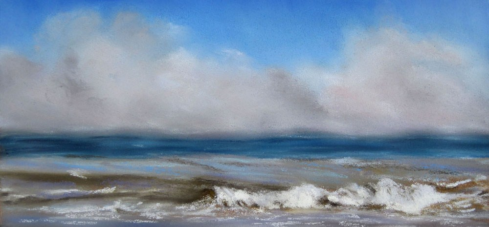 """Foggy Coast"" original fine art by Ulrike Miesen-Schuermann"