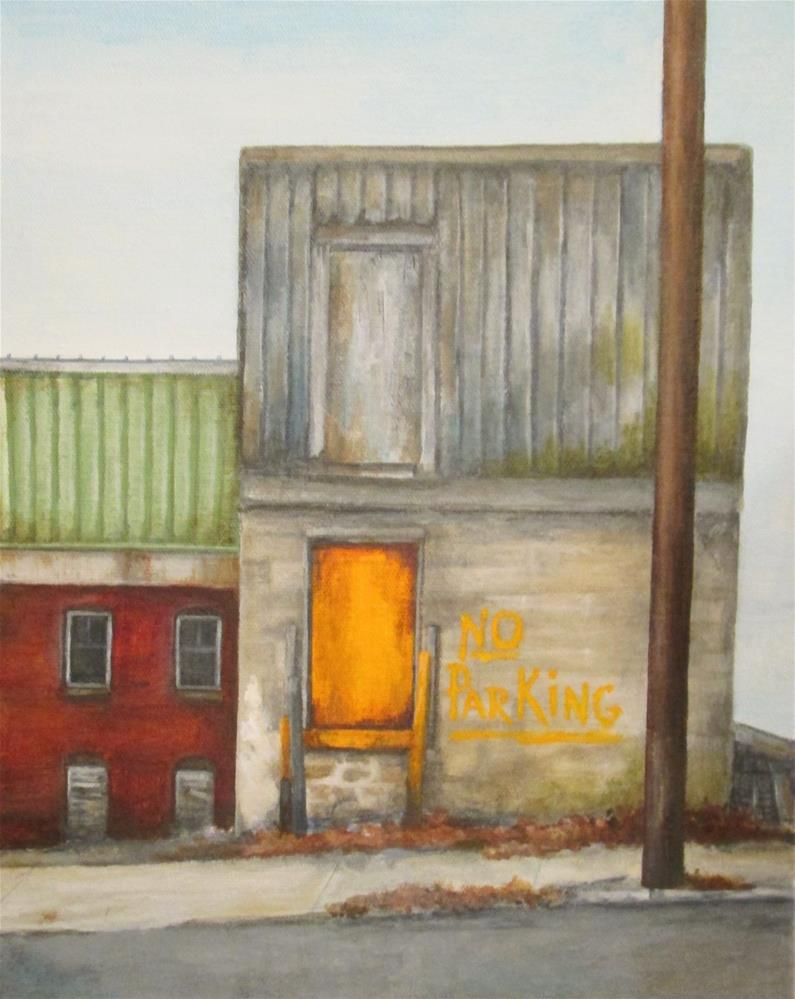 """No Parking"" original fine art by Debbie Shirley"