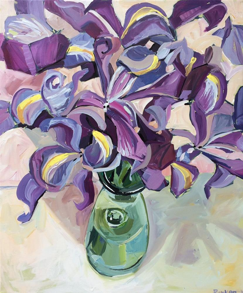 """Iris Patterns"" original fine art by Teddi Parker"