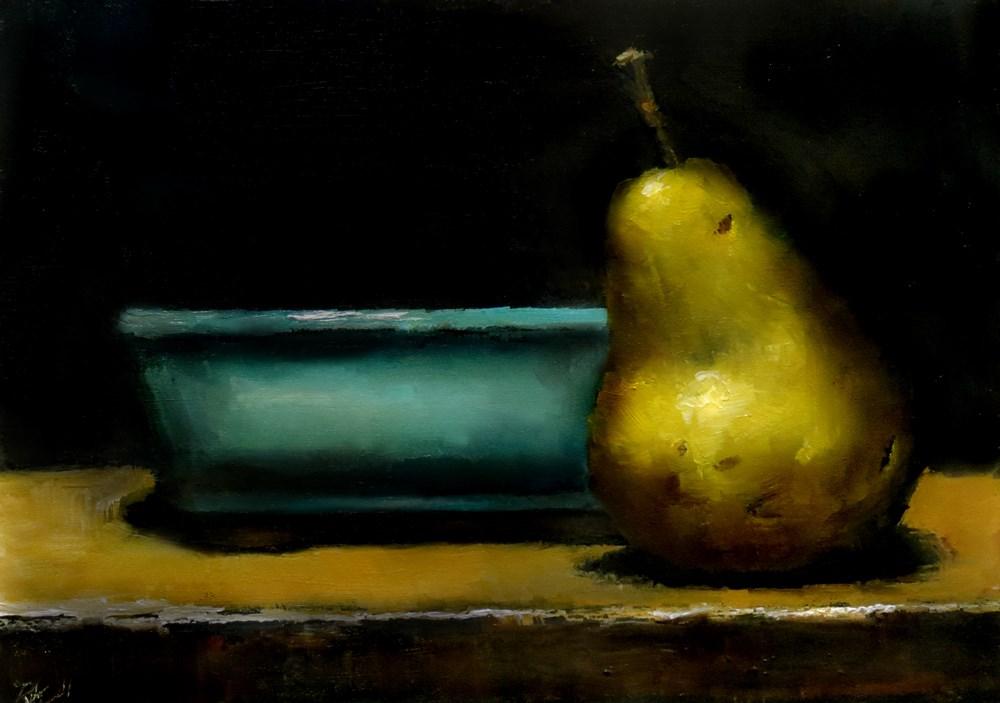 """A Yellow Pear"" original fine art by Bob Kimball"