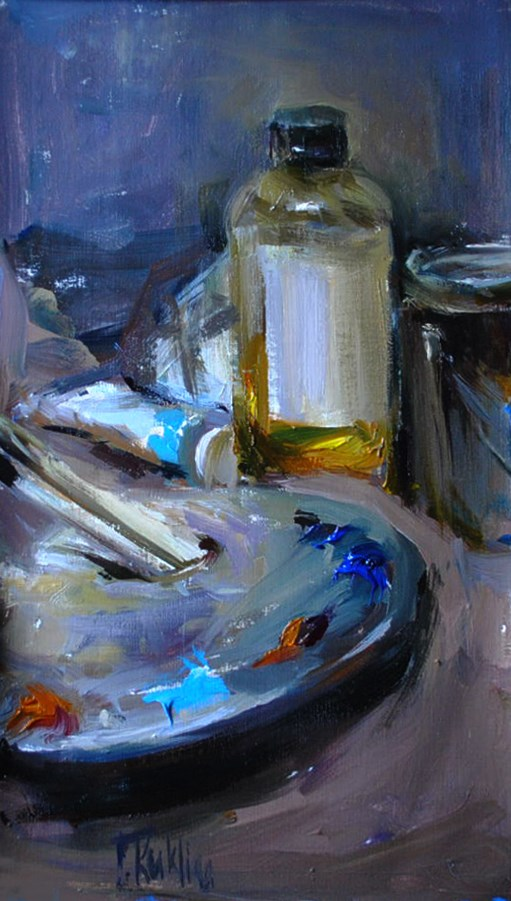 """artist's tools 2"" original fine art by Taisia Kuklina"
