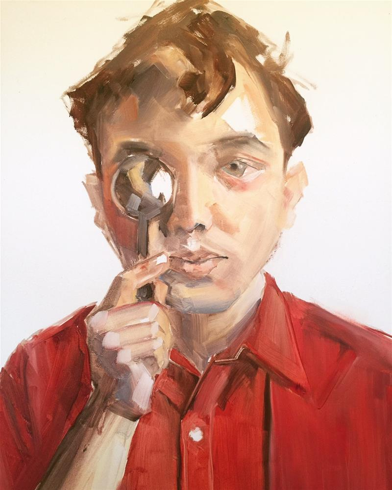 """""""542 Miguel with Spoon"""" original fine art by Jenny Doh"""