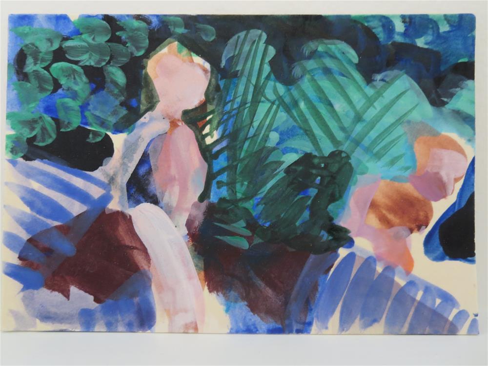 """In the Garden # 21"" original fine art by Pamela Hoffmeister"