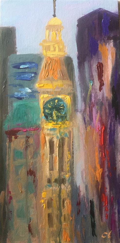 """Tower view"" original fine art by Cheree Apalona Lueck"