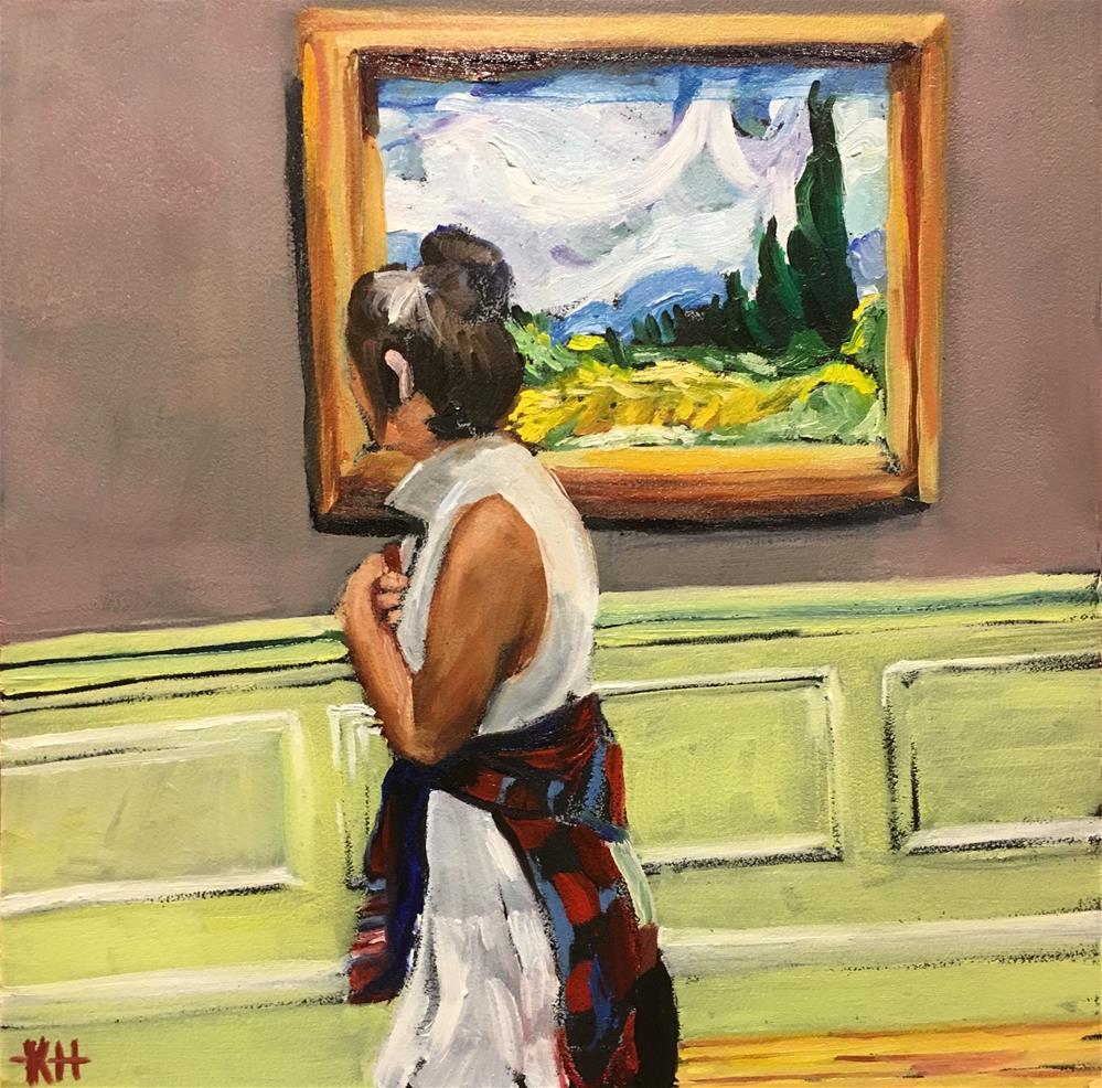 """Wheatfields with Cypresses"" original fine art by Katherine Hambley"