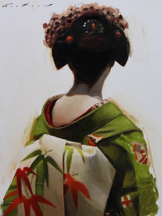 """The Scarlet Fringe (Autumn)"" original fine art by Phil Couture"