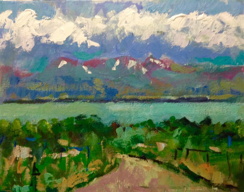 """""""The Lake at Saratoga Springs"""" original fine art by Andre Pallat"""