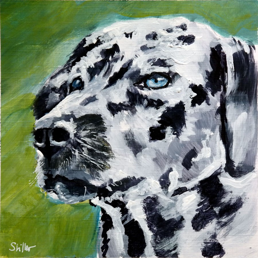 """1974 Dalmatian"" original fine art by Dietmar Stiller"