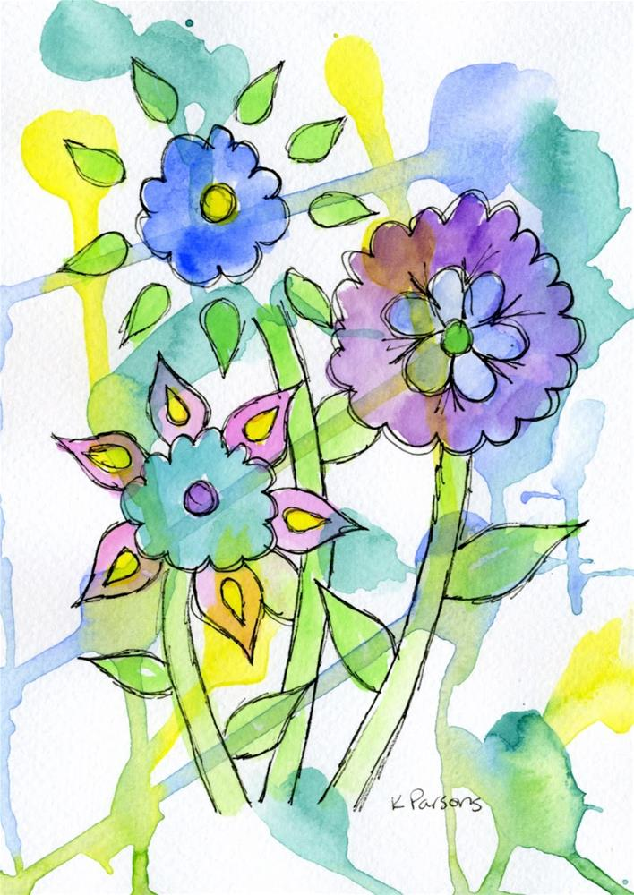 """A Bit of Whimsy"" original fine art by Kali Parsons"