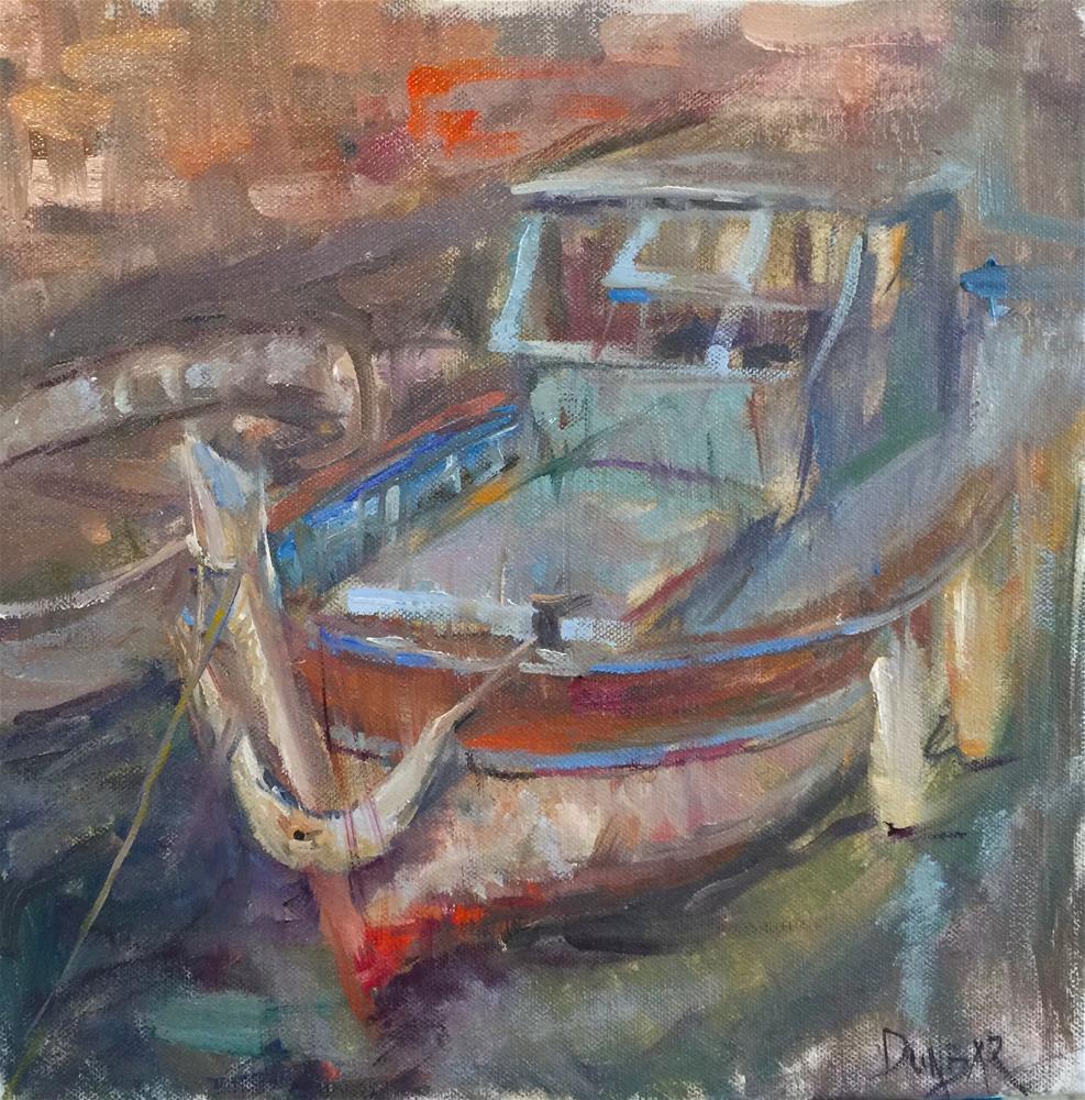 """Little French Boat"" original fine art by Linda Dunbar"