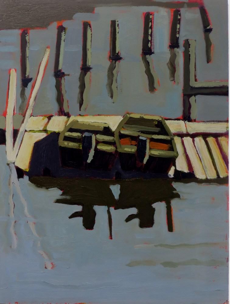 """Hope Springs Marina"" original fine art by Joan Wiberg"