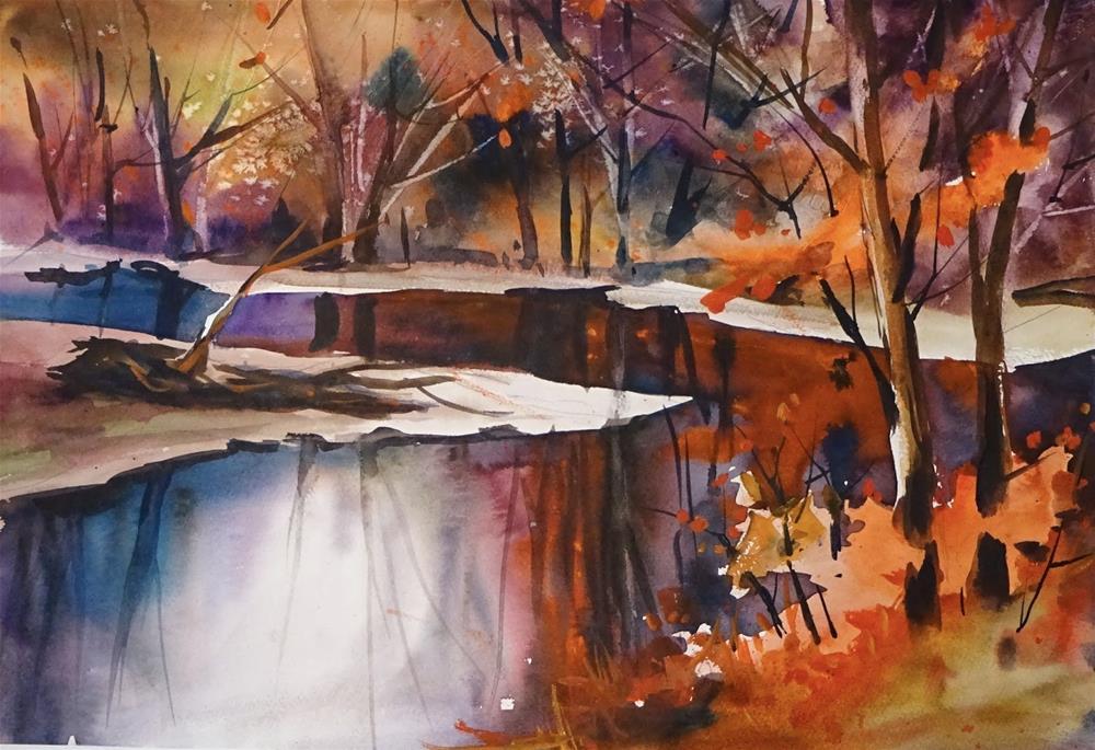 """Fall Reflections"" original fine art by Kathy Los-Rathburn"