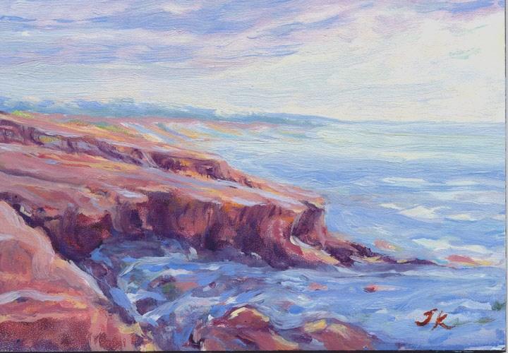 """Red Cliffs"" original fine art by J Kelsey"