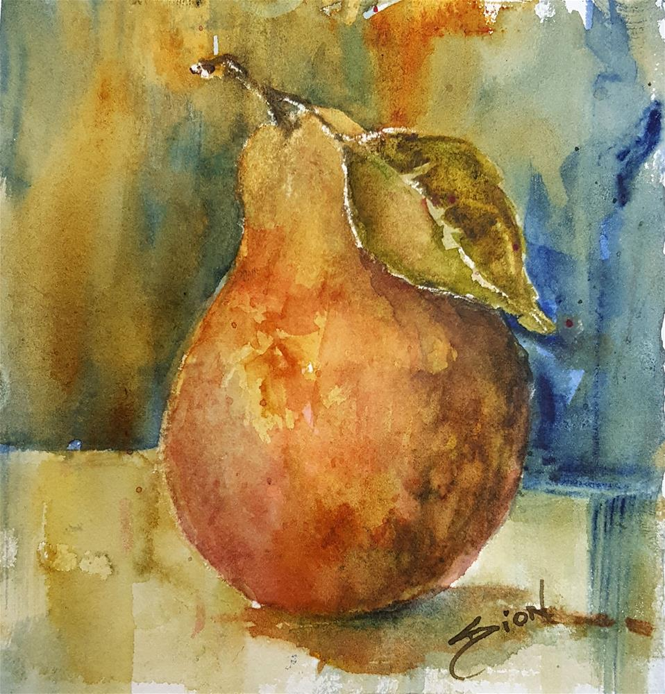 """Rustic Pear"" original fine art by Sue Dion"