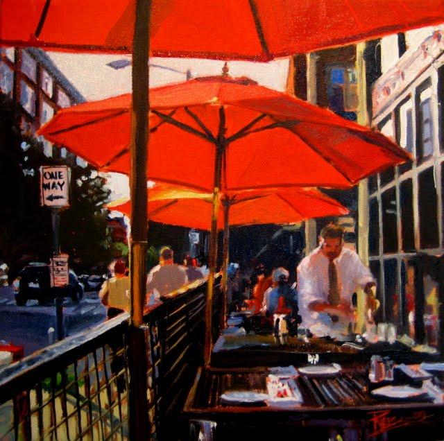 """Bell Town  Seattle city scene oil painting"" original fine art by Robin Weiss"