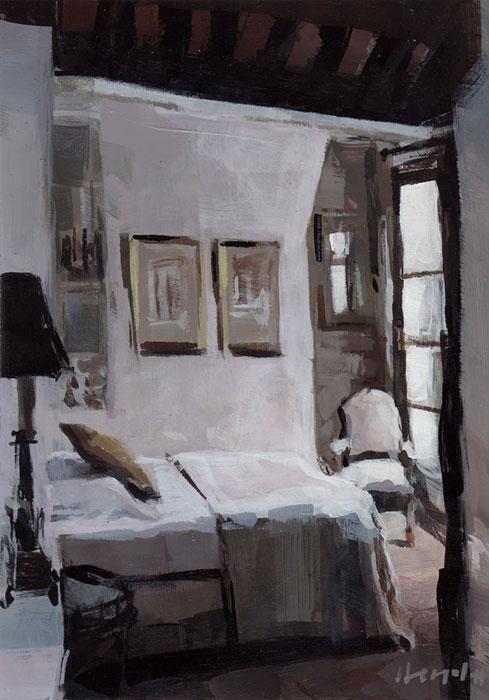 """Paris Bedroom"" original fine art by David Lloyd"