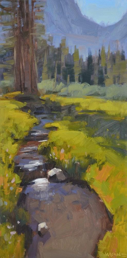 """""""Narrow Enough to Step Over"""" original fine art by Carol Marine"""