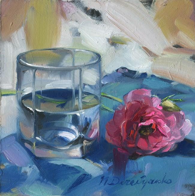 """""""Water and flower"""" original fine art by Natali Derevyanko"""