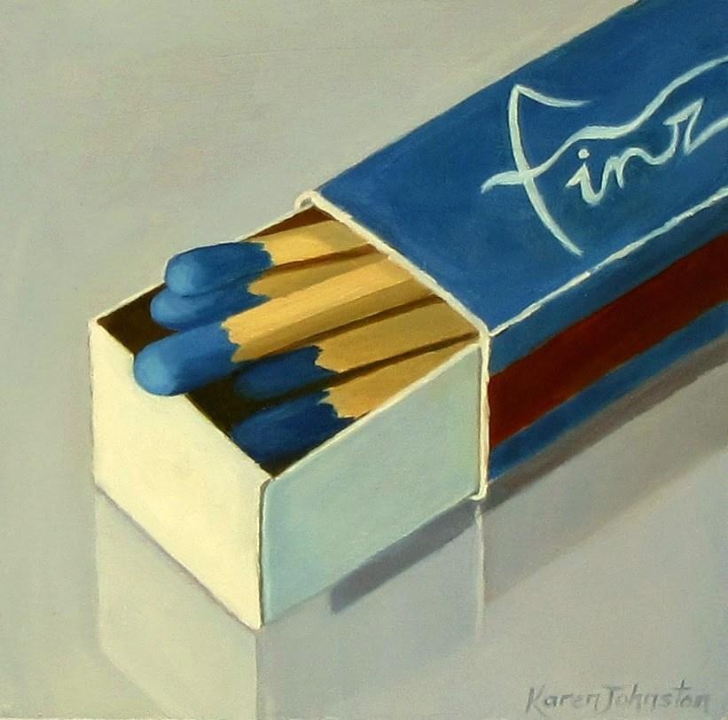 """Blue Matches"" original fine art by Karen Johnston"