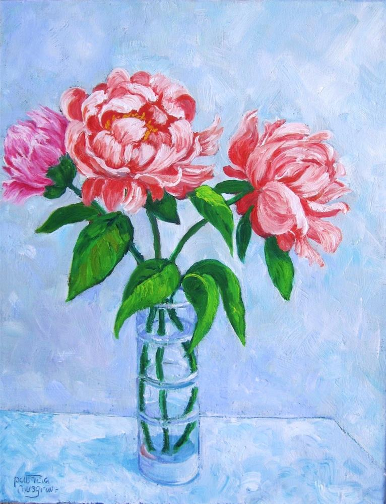 """Just Plain Peonies"" original fine art by Patricia Musgrave"