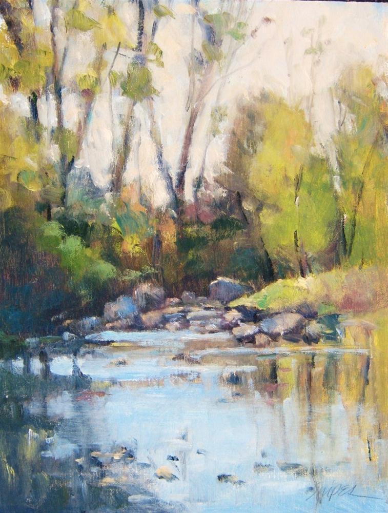 """Bend in the Creek"" original fine art by Connie Snipes"