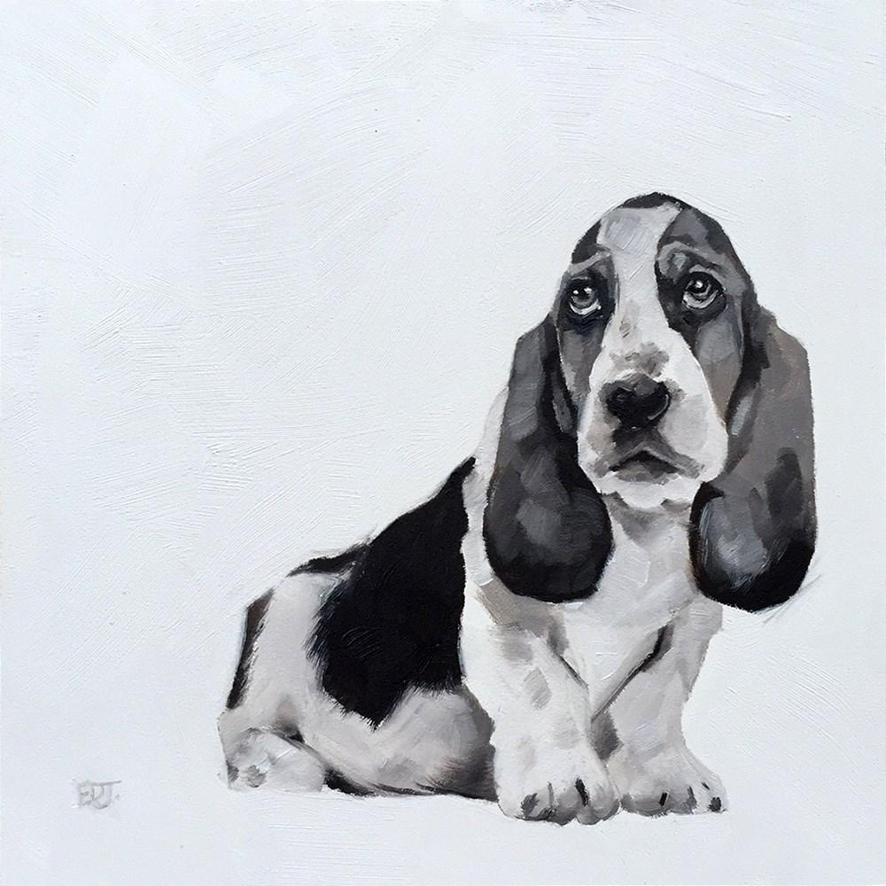 """""""Basil"""" original fine art by Elizabeth Dawn Johnston"""