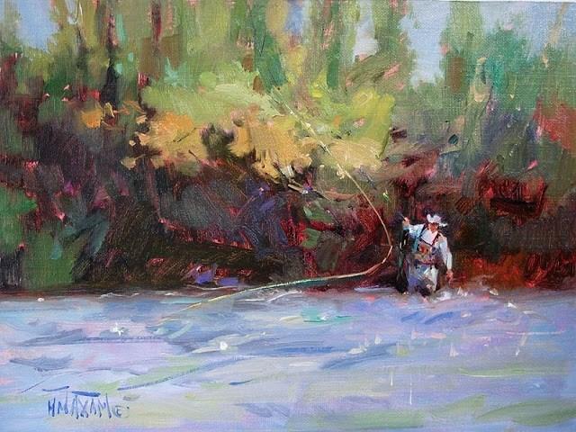 """River Rodeo"" original fine art by Mary Maxam"