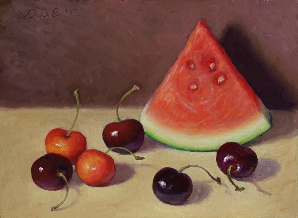 """Summer Fruit"" original fine art by Debra Becks Cooper"