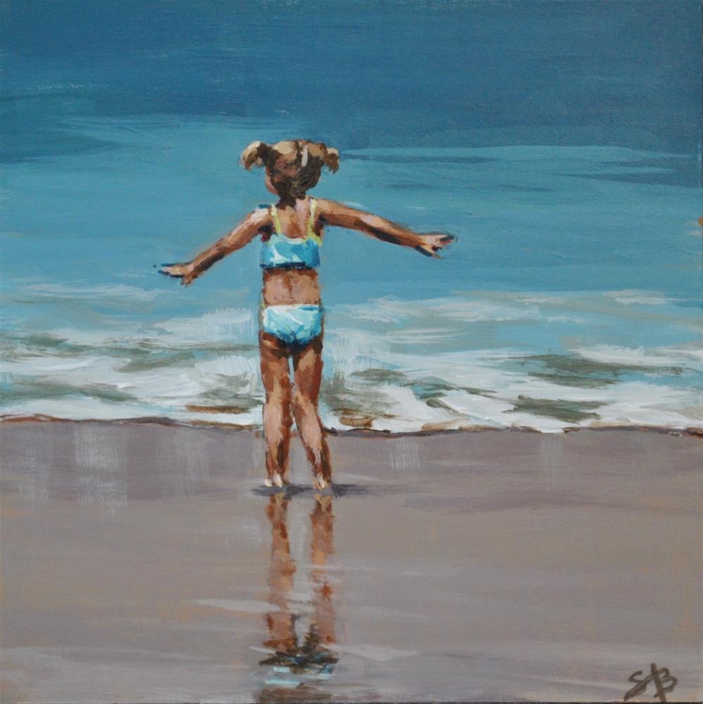 """""""Soaking It All Up"""" original fine art by Shari Buelt"""