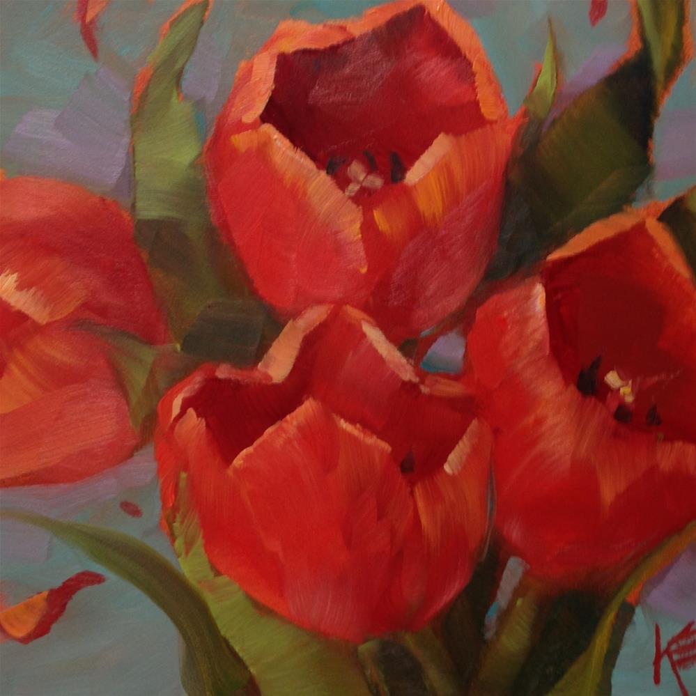 """Red"" original fine art by Krista Eaton"