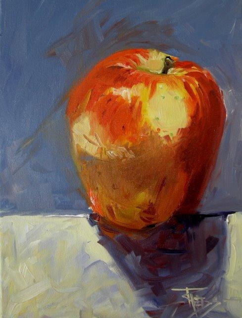 """Orchard Fresh   oil on canvas"" original fine art by Robin Weiss"