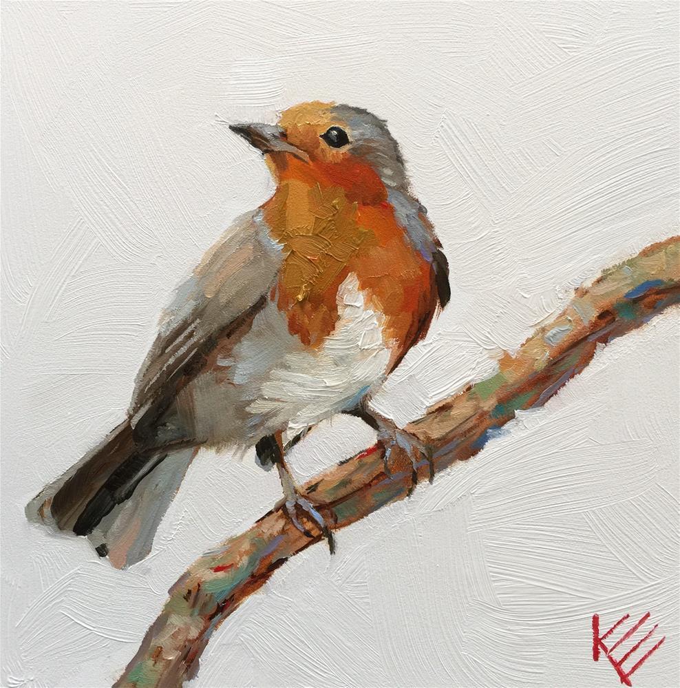 """Handsome Little Friend"" original fine art by Krista Eaton"
