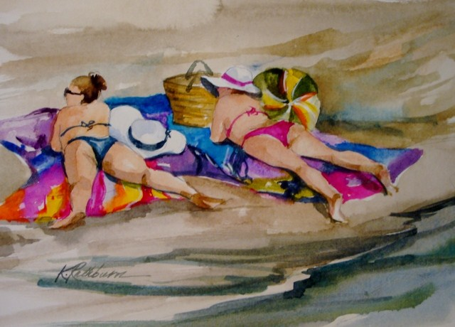 """All Strings Attached"" original fine art by Kathy Los-Rathburn"